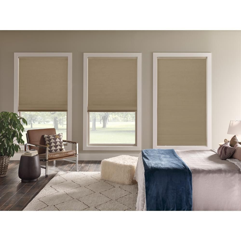 Home Decorators Collection Cordless Blackout Cellular Shade Custom Cellular Shades Master Bedroom Window Treatments Blackout Cellular Shades