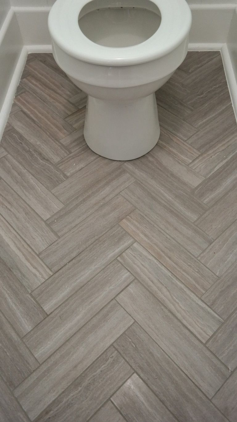 How to maximize space in a tiny bathroom Herringbone