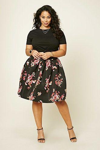 Falda Midi Flores | Outfits | Pinterest