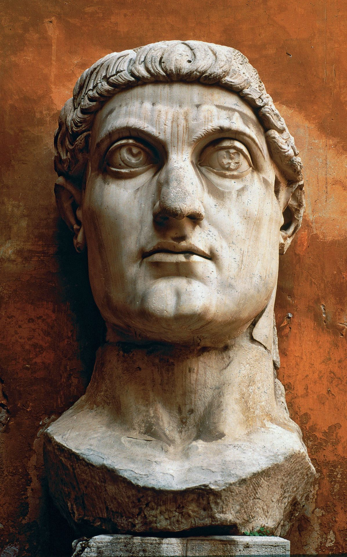 Portrait of Constantine (marble) 315-330 CE, Roman Empire