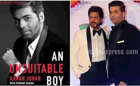 Shah Rukh Khan to launch Karan Johar's biography An Unsuitable Boy
