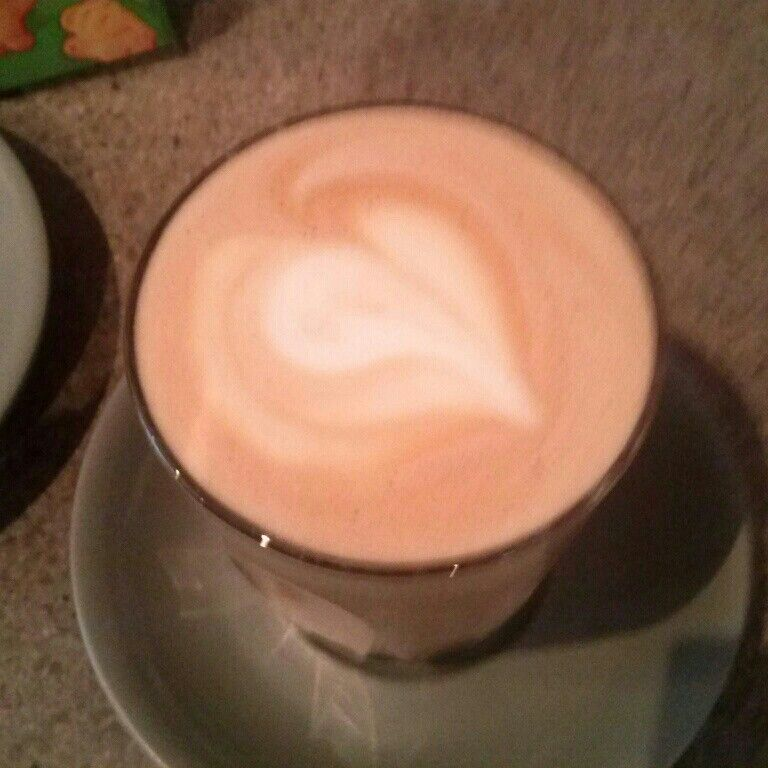 Coffee made with alot of love .
