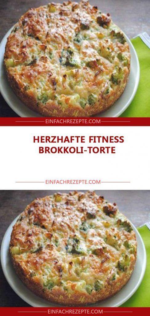 Herzhafte FITNESS Brokkoli-Torte #BrokkoliTorte #Fitness #gesundes abendessen #gesundes essen #gesun...