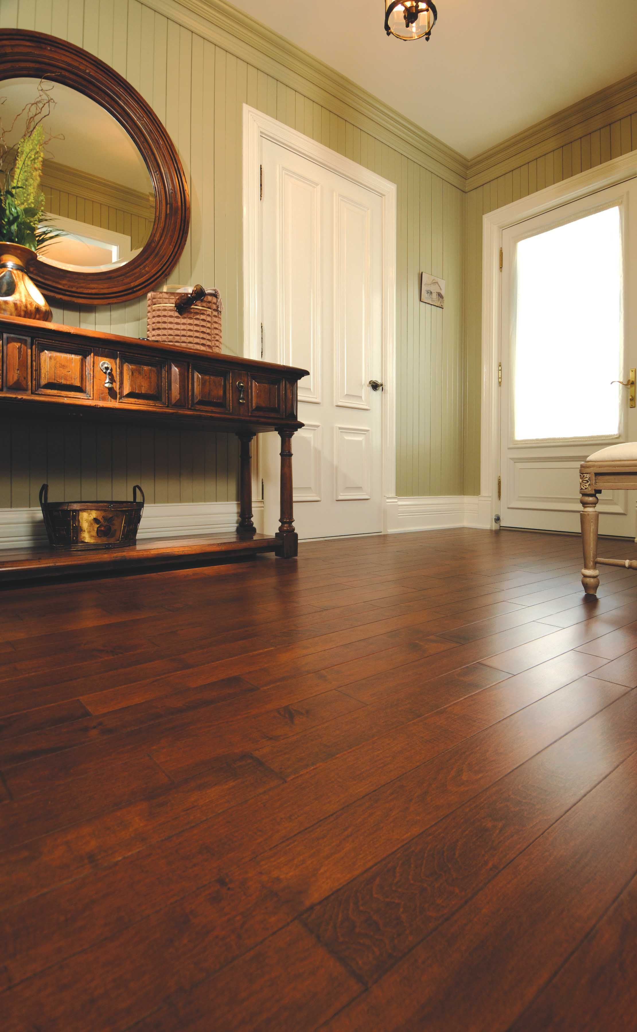 Mirage floors the worlds finest and best hardwood floors www miragefloors com mirage hardwood floor sweet memories aged maple truffle hallway