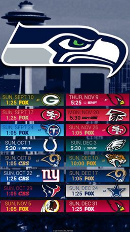 2017 schedule Seattle seahawks, Seattle seahawks