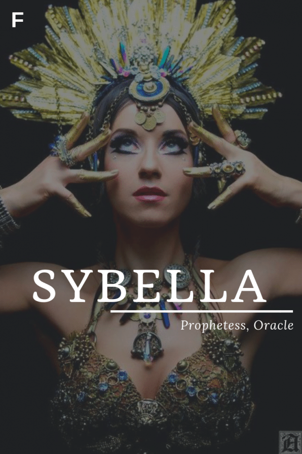 Sybella meaning Prophetess or Oracle Greek/Babylonian ...