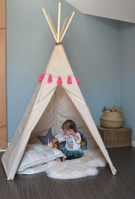 hello birdie diy le tipi diy tipi enfants pinterest. Black Bedroom Furniture Sets. Home Design Ideas