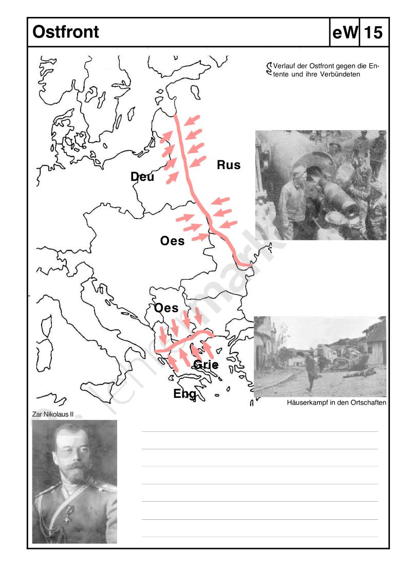 1. Weltkrieg: Fronten - Möchtest du selbst erstellte digitale ...