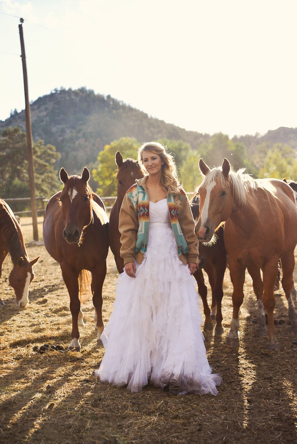 Ranch Wedding Cowboy Country Trash The Dress Cowgirl Horse Pendleton Jacket: Horse For Western Wedding Dresses At Websimilar.org