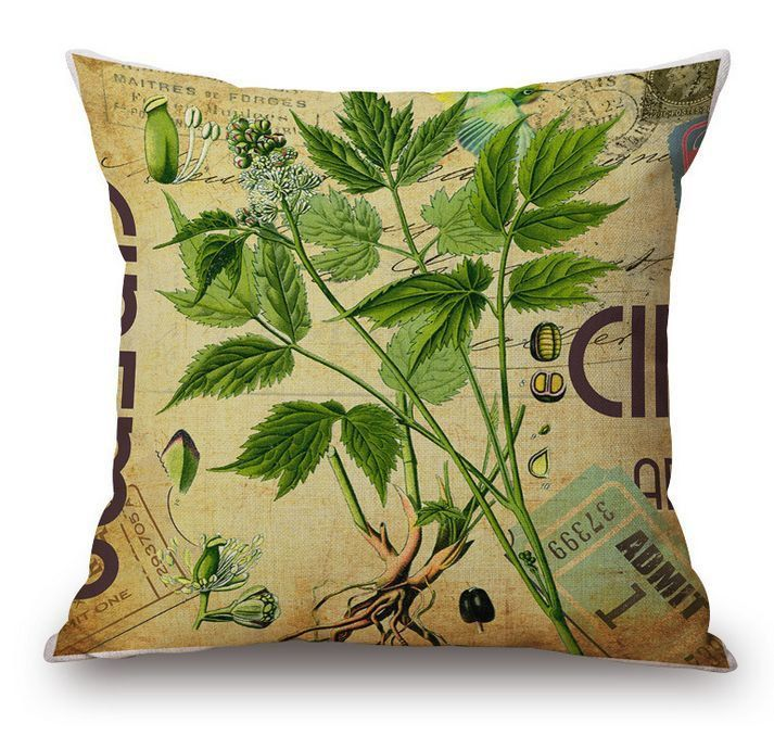 HERB GARDEN Cilantro SHaBBY Chic CuSTOM Throw Accent Toss PiLLOW