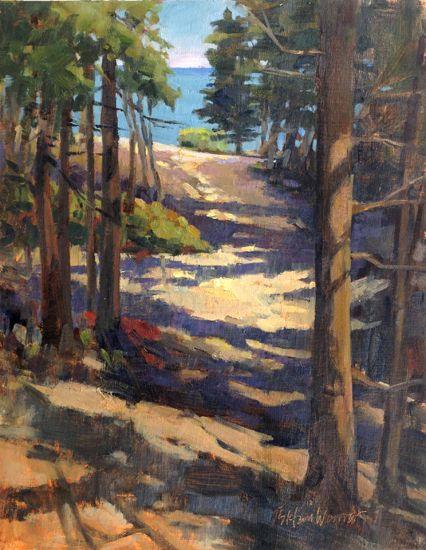Through The Woods Oil Pastel Paintings Original Art By Jill Stefani Wagner Oil Painting Landscape Oil Pastel Paintings Landscape Paintings