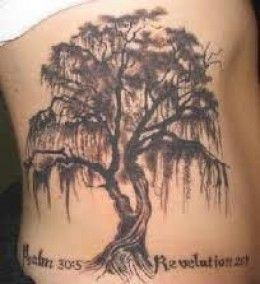 Weeping Willow Tree Black And White Tattoo Tree Tattoos: D...