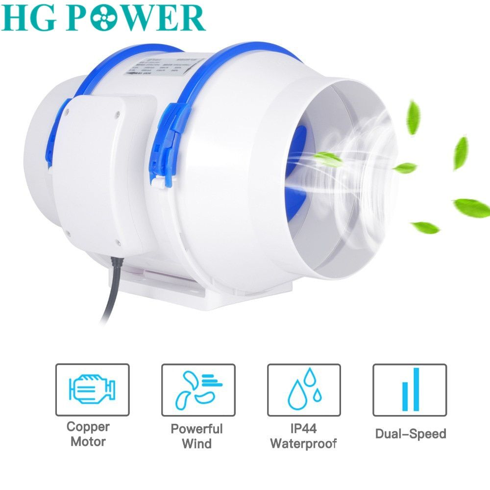 220v 6 Inch Home Silent Inline Duct Fan Strong Ventilation Extractor Fan Kitchen Air Clean Fan Power Ventil Extractor Fans Ventilation Fan Bathroom Ventilation