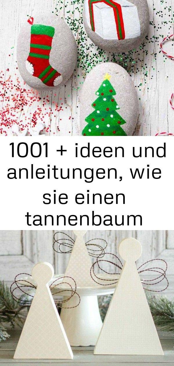 ▷ 1001 + ideen und anleitungen, wie sie einen tannenbaum basteln 4 #steinebemalenanleitung