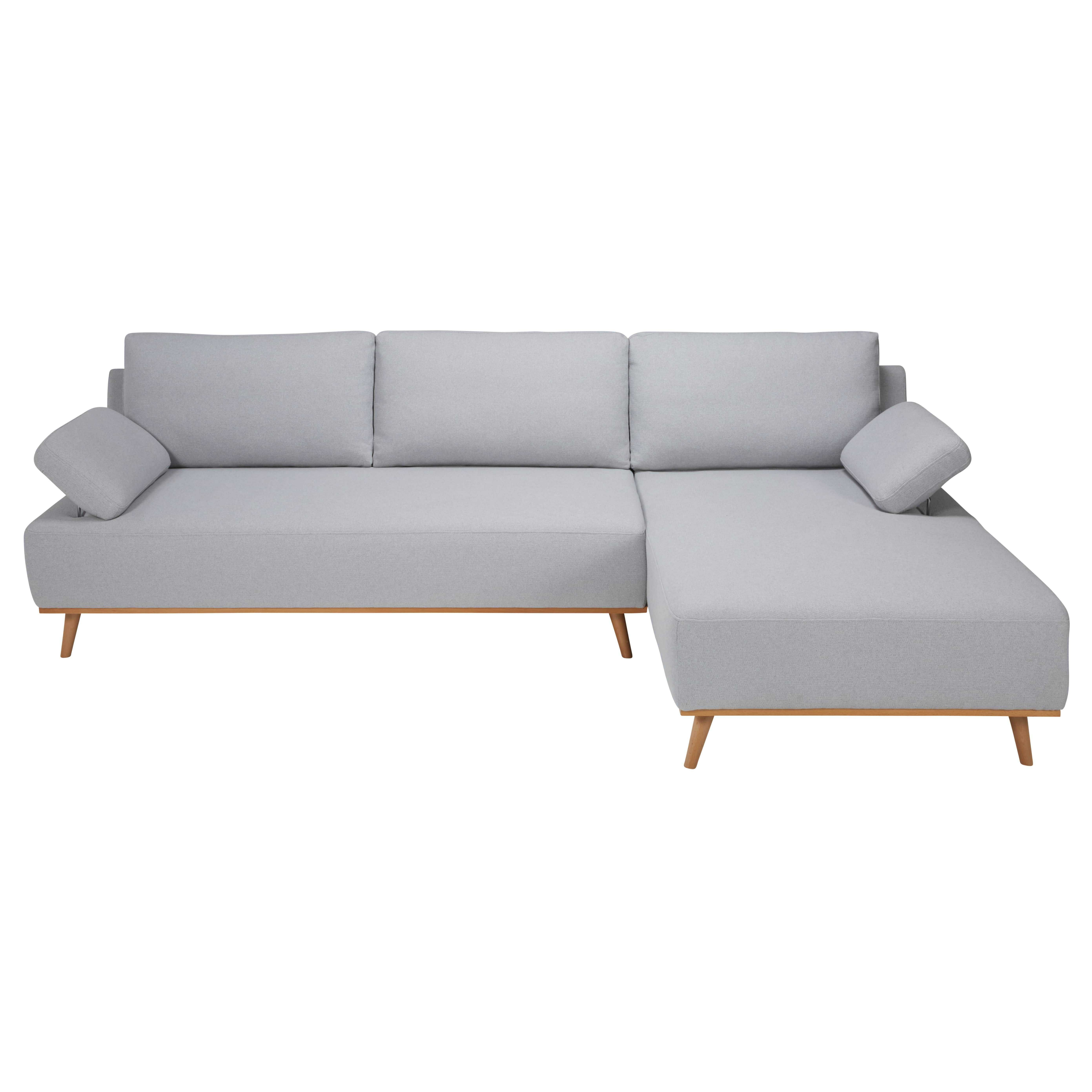 Ecksofa Toronto Light Grey 5 Seater Cotton Right Hand Corner Sofa Sofas Sofa