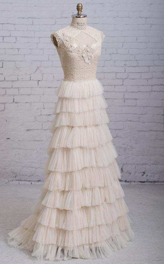 Steampunk Wedding Dress Victorian Wedding Dress Vintage Inspired