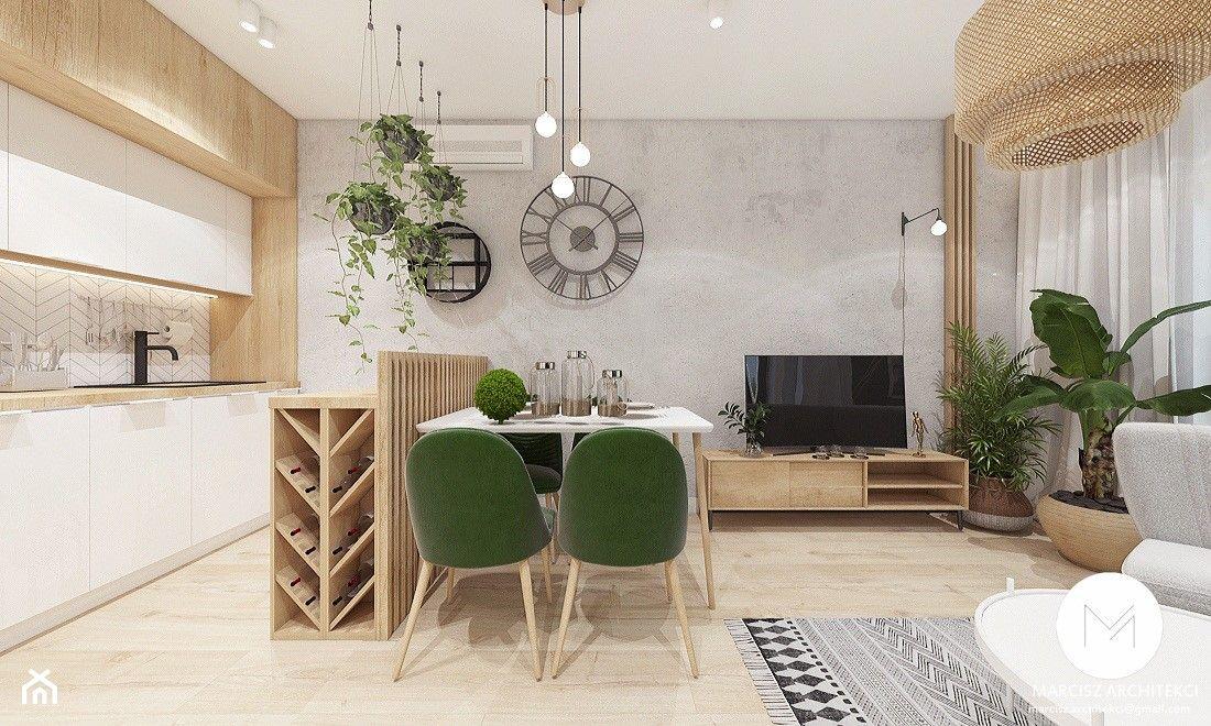 Sredni Salon Z Kuchnia Aranzacje Pomysly Inspiracje Homebook Home Decor Home Decor
