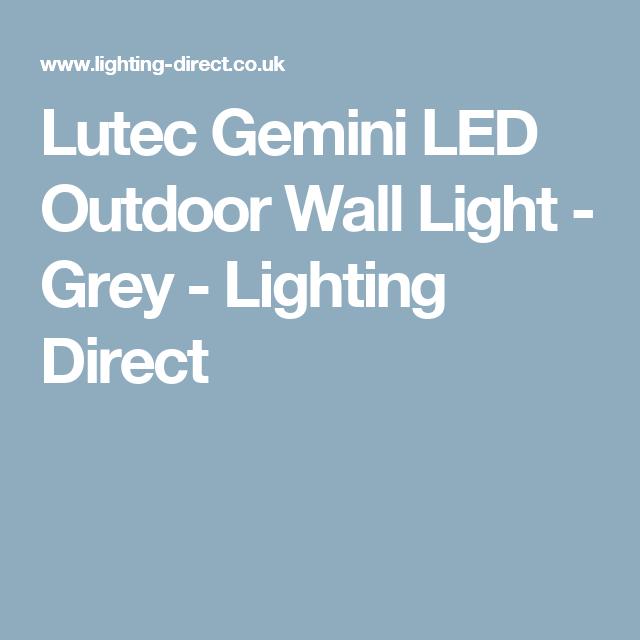 Lutec Gemini LED Outdoor Wall Light - Grey - Lighting Direct