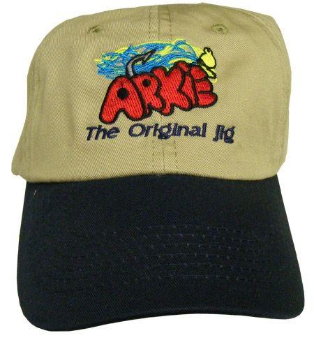 Arkie Khaki & Navy Hat  Made for fisherman.  www.arkiejigs.com