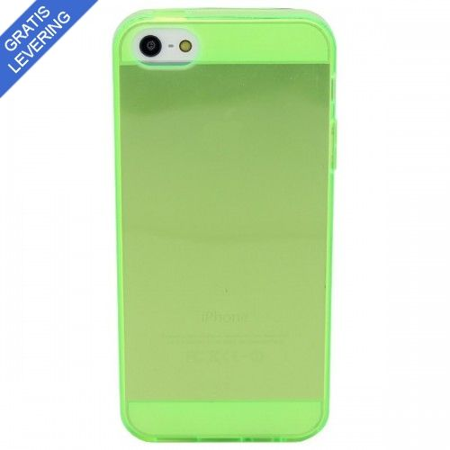 iPhone 5/5S cover- Gennemsigtig blød plastik - Grøn