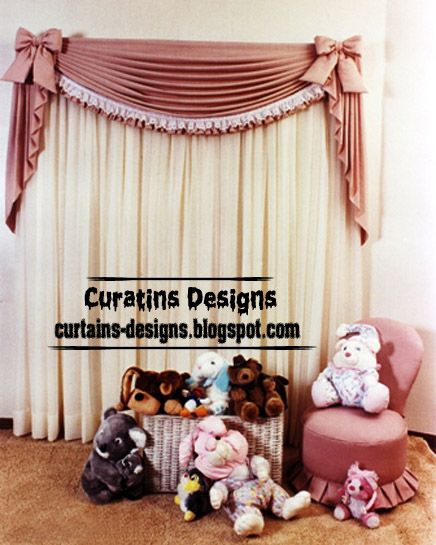 Creative Curtain Design Ideas For Girls Bedroom In Pink And Cream Fabric,  Itu0027s Unique Girls Bedroom Curtain Design Ideas, This Stylish Girls Curtain  ...