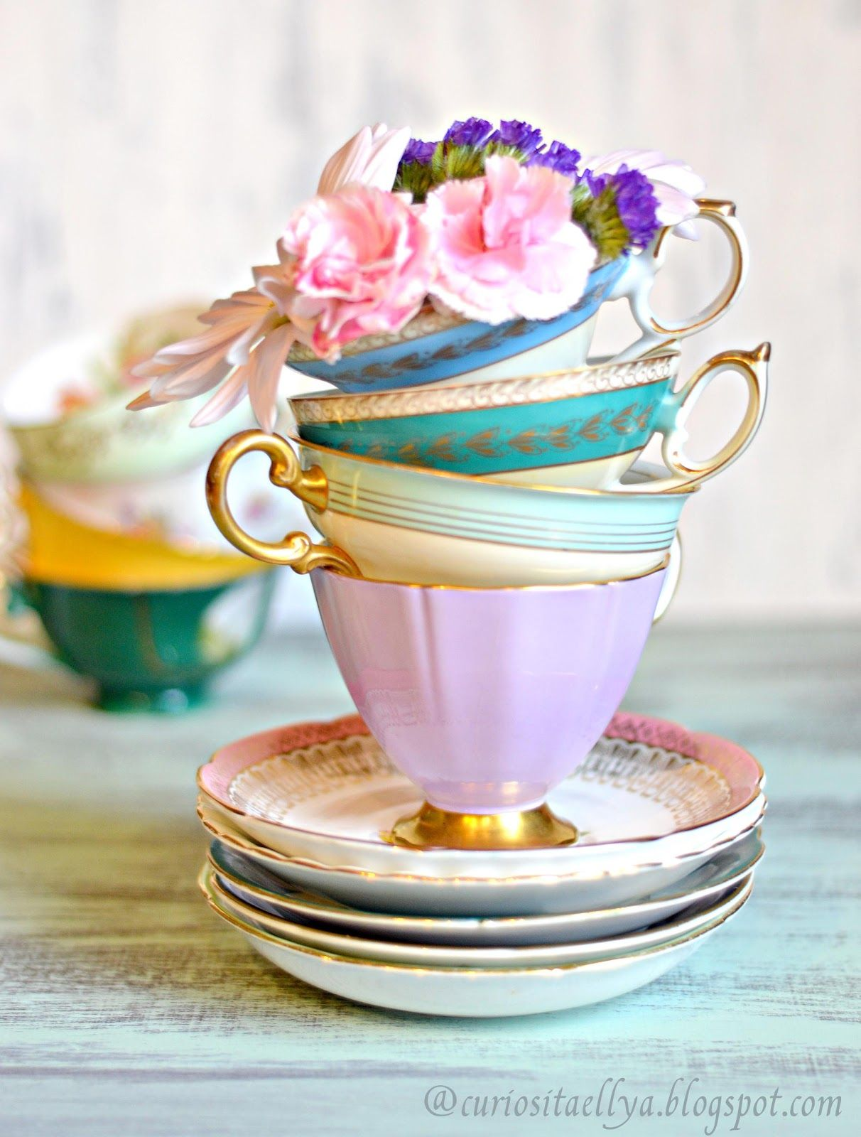 Vintage Tea Cups Part - 34: Tea Cups | Curiositaellya: Vintage Tea Cups Love Affair