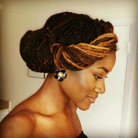Naturally Beautiful Hair: Leslie's Gorgeous Loc Style!