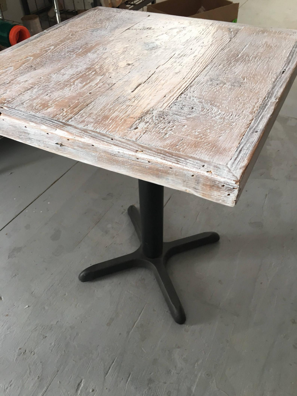 Reclaimed wood, white weathered table top, bar table top, pub , bistro,cafe table top, #gypsysetup