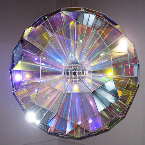 color square sphere, 2007 by olafur eliasson
