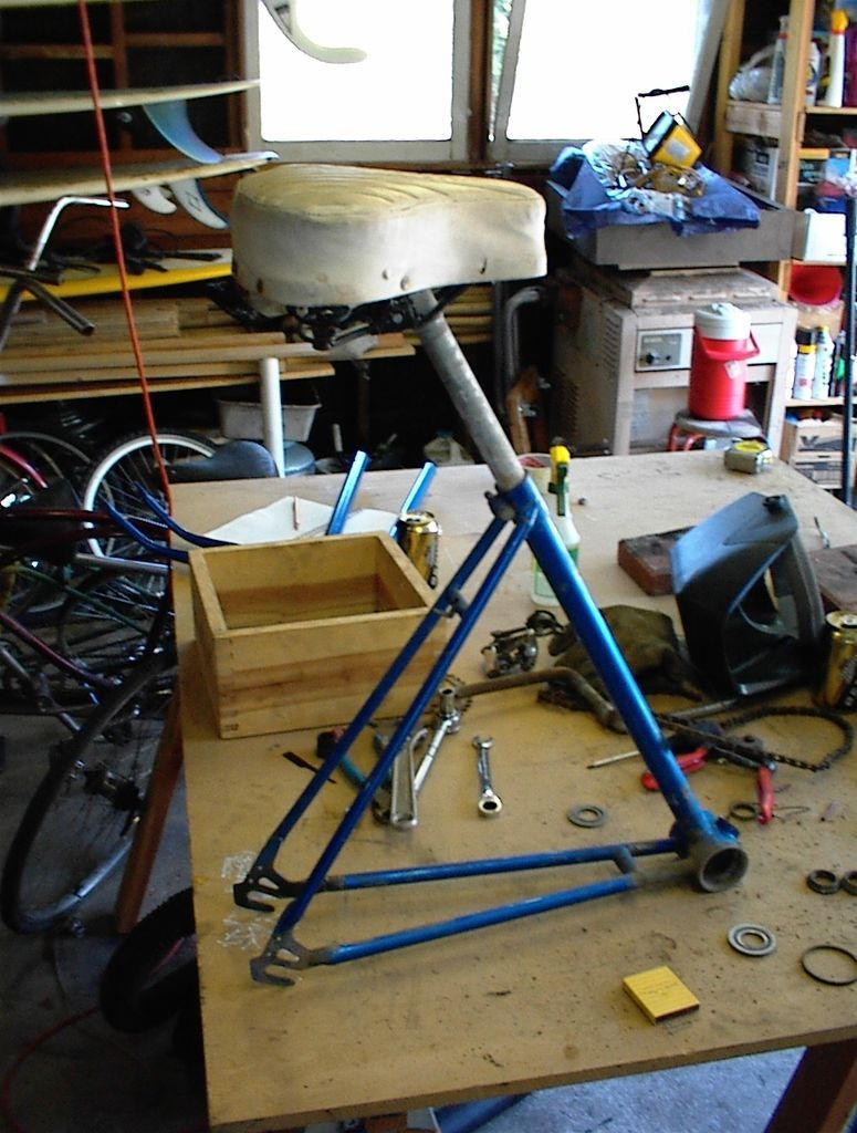 Build a Shop Stool Out of a Junk Bike Recycled bike