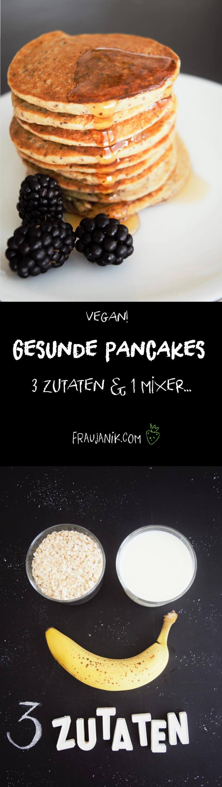 gesunde pancakes ohne zucker 3 zutaten 1 mixer. Black Bedroom Furniture Sets. Home Design Ideas