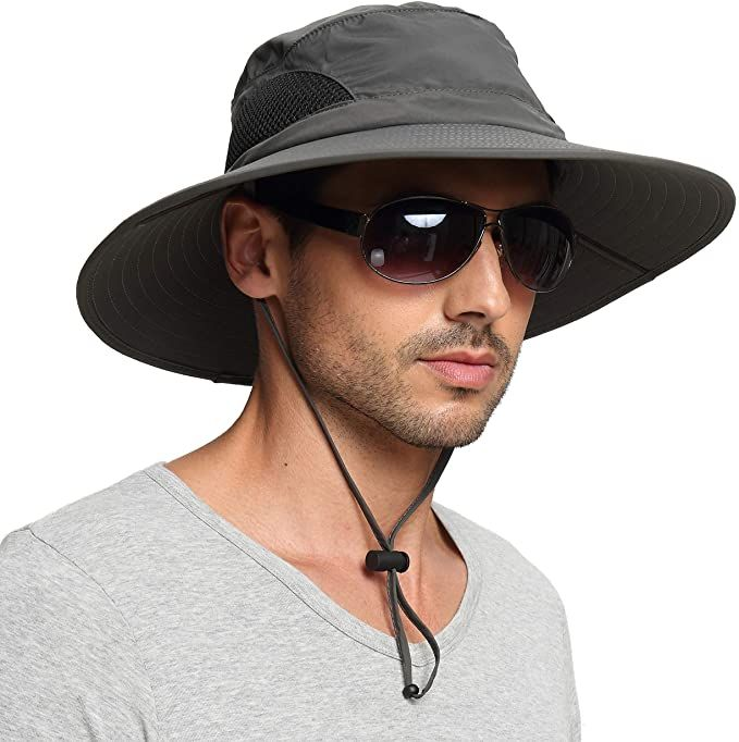 Einskey Unisex Wide Brim Sun Hat Summer Uv Protection Bucket Hat Foldable Fishing Hat Default Title In 2021 Mens Sun Hats Wide Brim Sun Hat Hats For Men