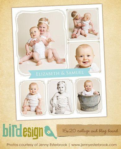 16x20 collage & blog board | Sweet siblings