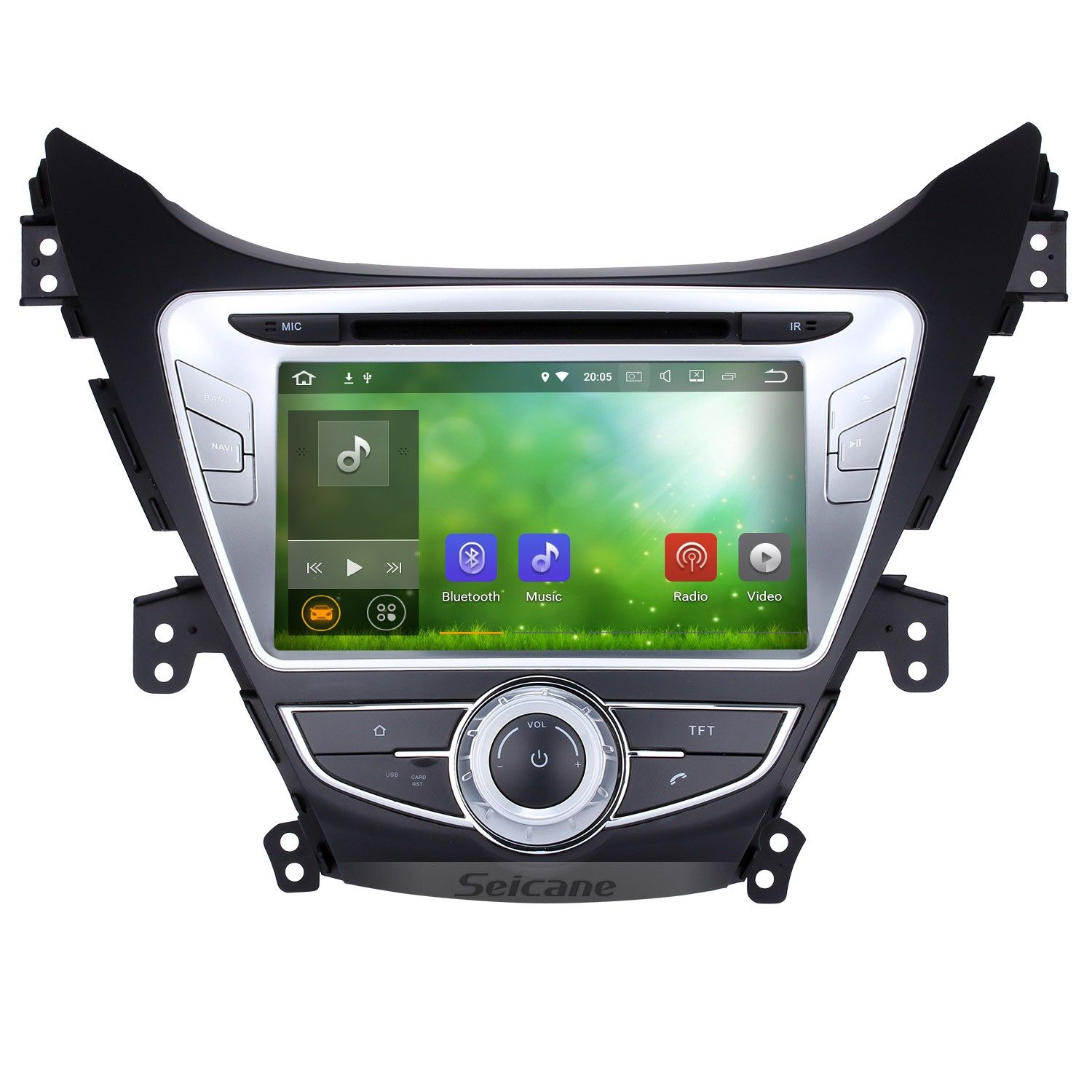 9 Inch Android 10 0 Hd Touch Screen Radio For 2014 2015 Hyundai Elantra With Gps Navigation System Bluetooth Usb Wifi Obd2 Tpms Mirror Link Rearview Camera Gps Navigation Gps Navigation System Gps