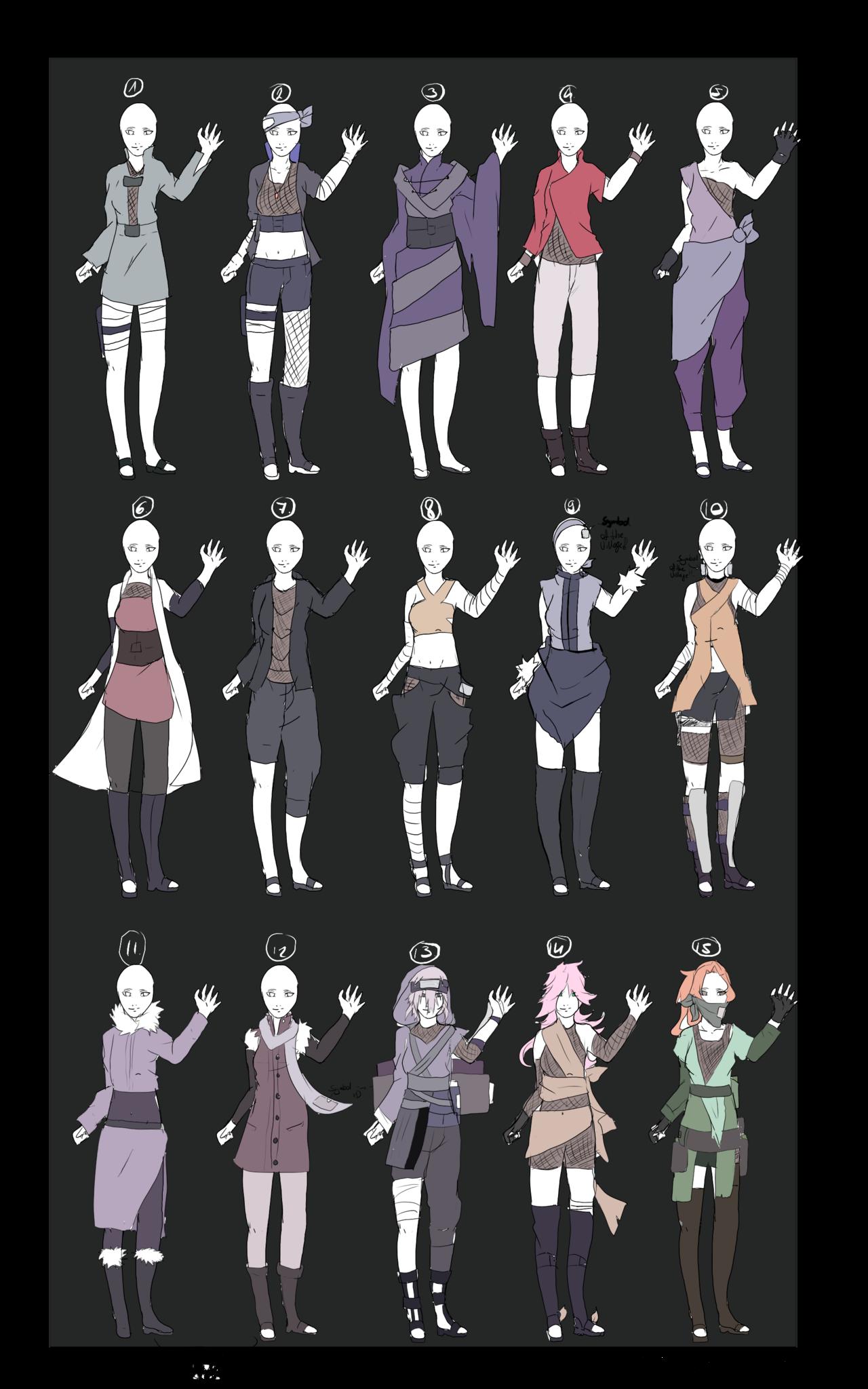 DeviantArt More Like Naruto Outfit Adoptables OPEN V.V