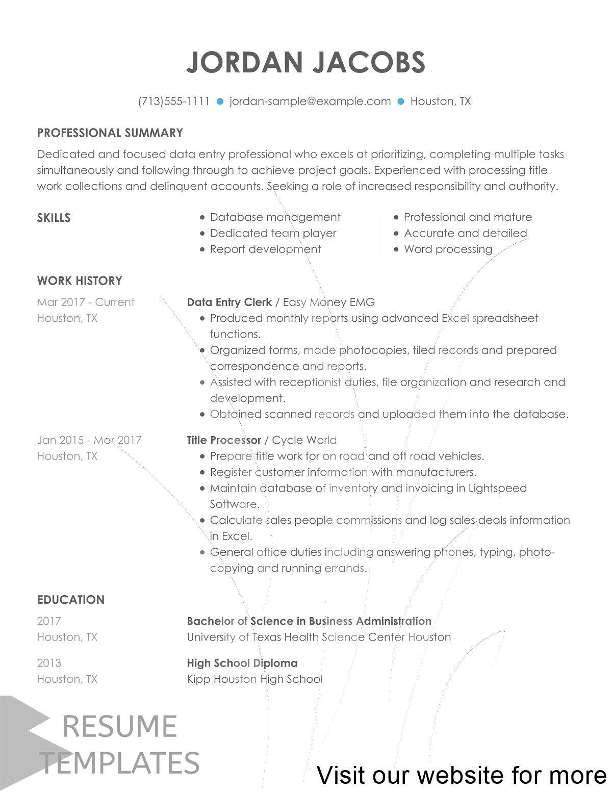 resume template customer service in 2020 Resume template