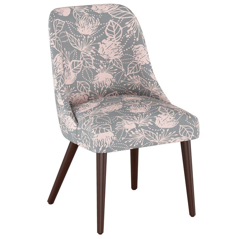 Sensational Geller Modern Dining Chair Sketch Floral Grey Pink Project Evergreenethics Interior Chair Design Evergreenethicsorg