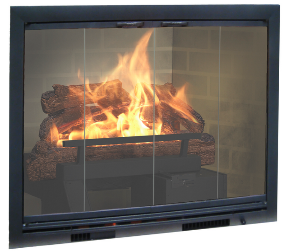 Cjs Hearth And Home Brookfire Aluminum Fireplace Glass Door With