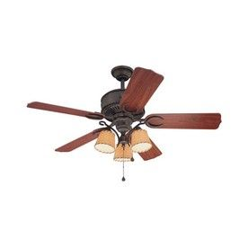 harbor breeze 54 in austin aged iron ceiling fan with light kit rh pinterest com