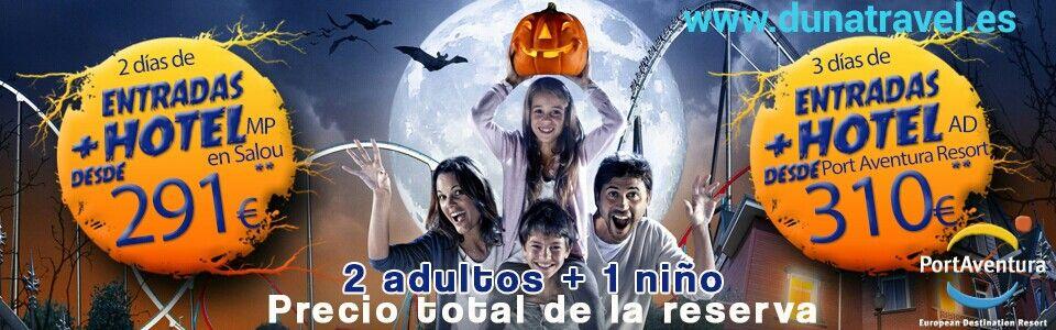 Oferta Halloween Port Aventura en familia