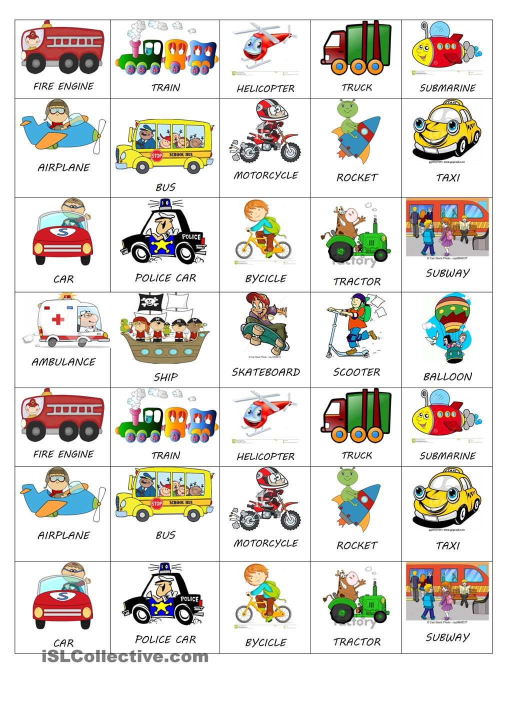 Boggle Worksheets Pdf Transportation Word Cards Free  Google Search  Prek  Pinterest  Free Verb Worksheets Word with Baby Animal Worksheet Excel Here You Have Some Cute And Tiny Stickers To Share With Your Little  Students You Can Imitate The Mean Of Transport And Do The Vehicle Noise Beginning Letter Sound Worksheet Word