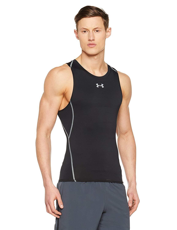 Compression Tee Tank Top Shirt Under Armour Men NEW HeatGear Sleeveless UPF 30