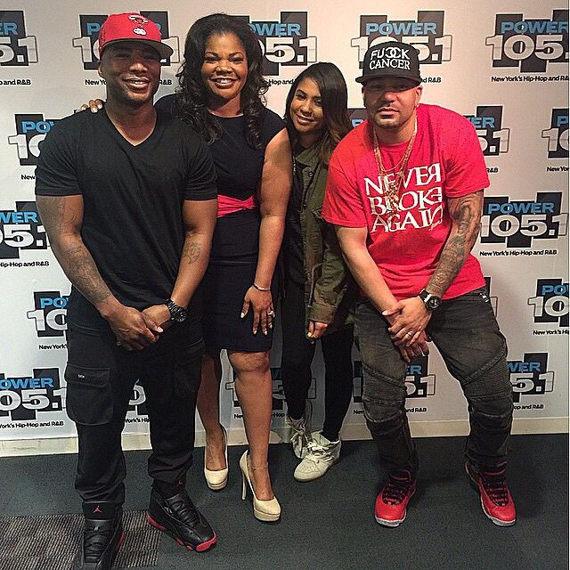 822e6dbc029906 Charlamagne wearing the  Gym Red  Air Jordan 13  DJ Envy wearing the  Bulls  Over Broadway  Air Jordan X 10