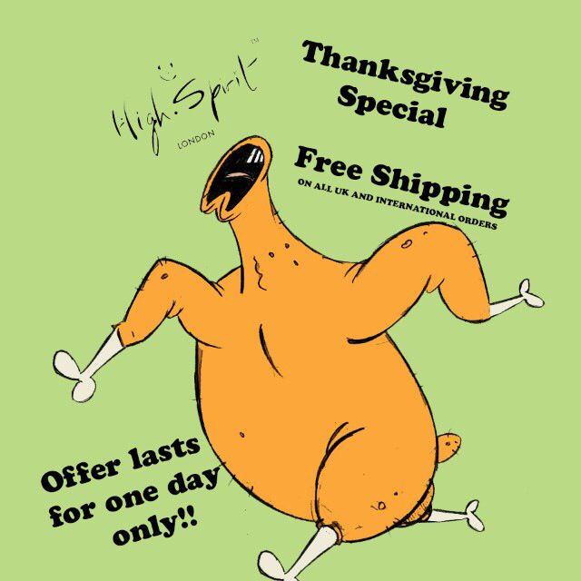To celebrate Thanksgiving we will be providing FREE SHIPPING for all UK and International orders for ONE DAY only on the 27th November! :-) #thanksgiving #celebrate #chicken #instafashion #cartoon #chicken #food #highspiritbag #highspirit #bag #backpack #fashion #accessories #stylish #style #unique #london #america #usa #streetwear #theftproofbag #theftproof