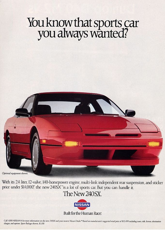 Nissan 240SX - Vintage Car Ads | Badass Cars | Nissan sports