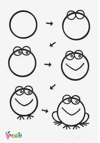 How To Draw A Frog Step By Step For Kids Art Videos For Kids Easy Drawings For Kids Easy Drawings