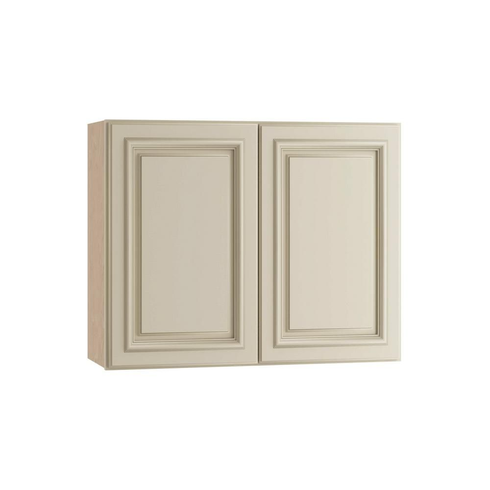 Home Decorators Collection Holden Assembled 30x24x12 In Double Door Wall Kitchen Cabinet In Bronze Glaze W3024 Hbg Home Decorators Collection