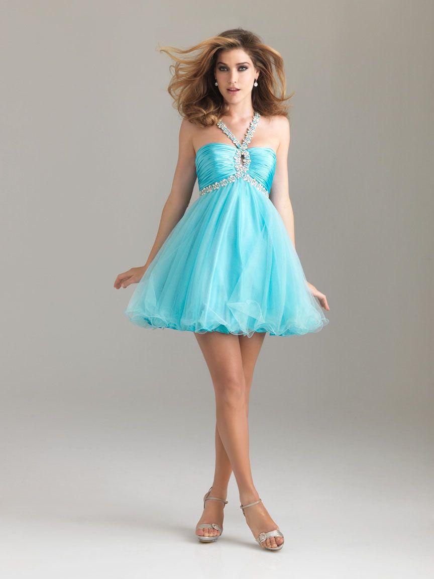 A-line Halter Beading Short Pink Dress | FANCY DRESSES | Pinterest ...