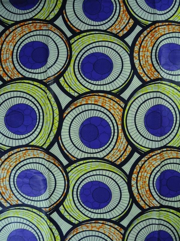 6 Yards Cotton African Fabric Super Wax Print sw806006