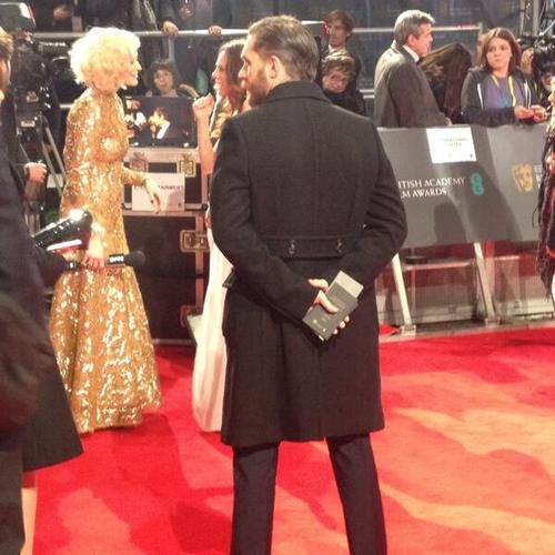 Tom Hardy and Kelly Marcel on the Bafta's Red Carpet Feb 16, 2014